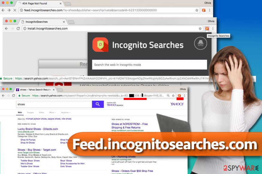 Picture of Feed.incognitosearches.com redirect virus