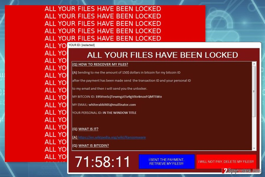 The picture of Fenrir ransomware