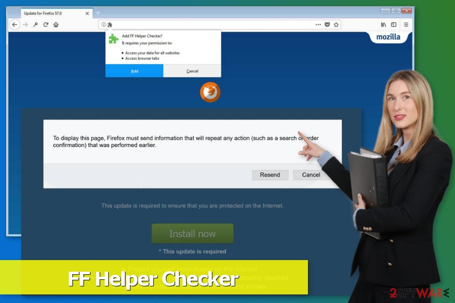 Picture of FF Helper Checker virus