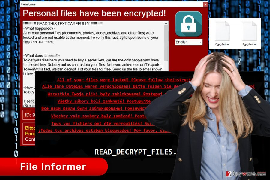 The image of File Informer ransomware virus