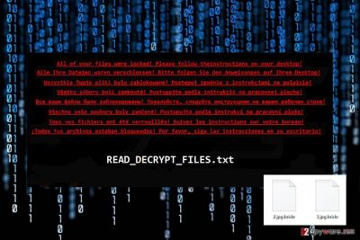 Ransom note by File Informer