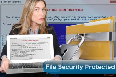 Image of the File Security Protected ransomware virus