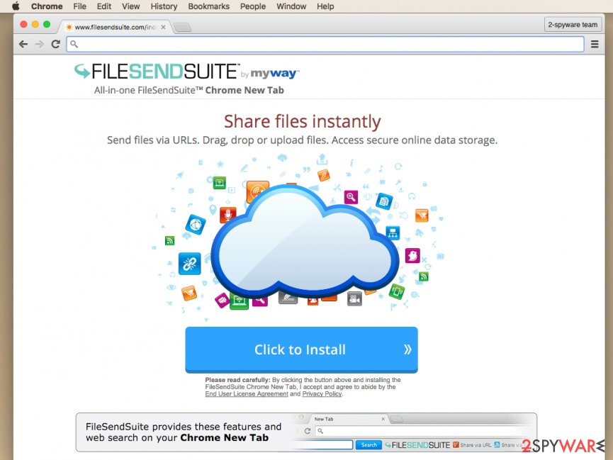 File Send Suite Toolbar