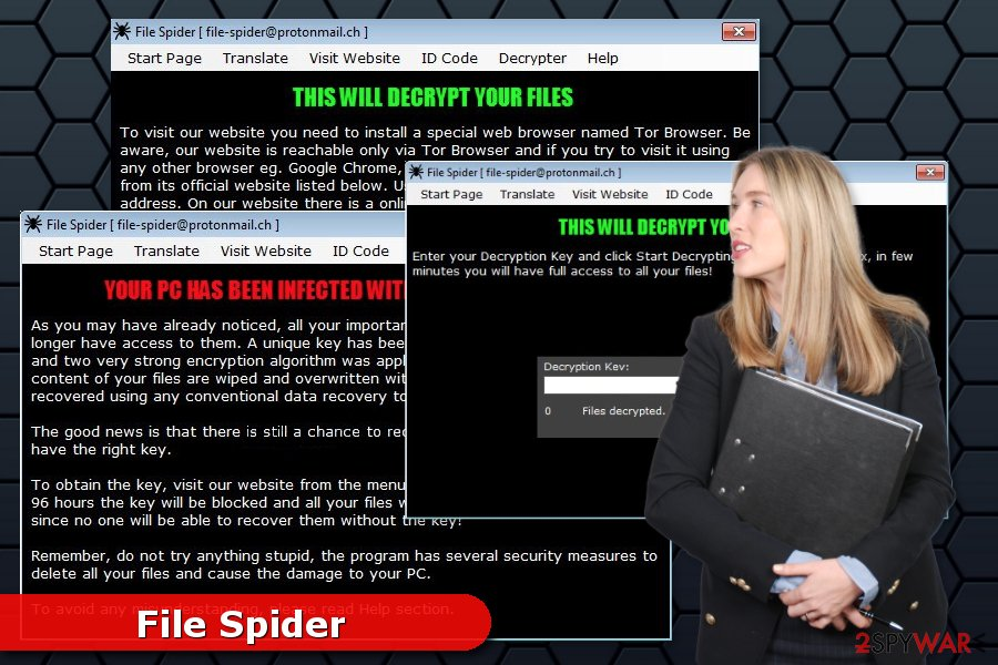 Image of File Spider ransomware