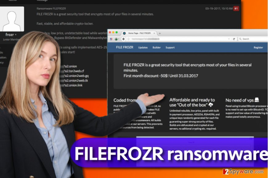 FileFrozr ransomware page