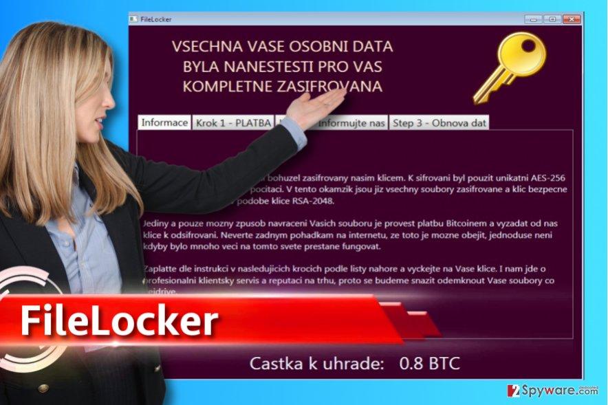 FileLocker ransomware virus
