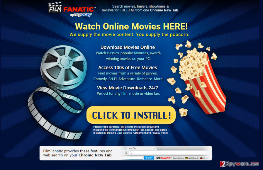 Filmfanatic toolbar