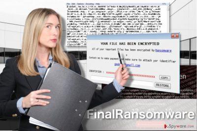 FinalRansomware virus illustration