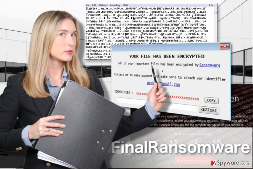 FinalRansomware virus illustration