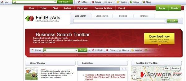 Findbizads.com virus snapshot