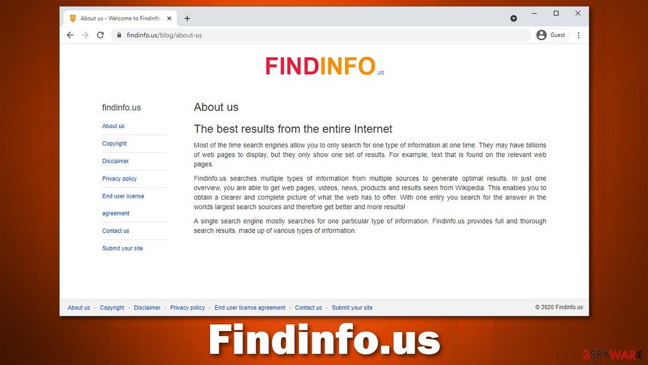 Findinfo.us virus