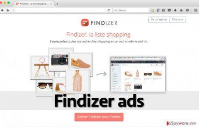 Screenshot of Findizer adware