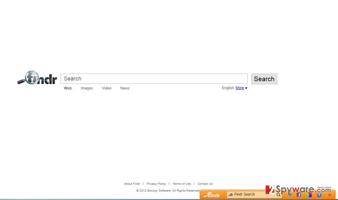 Findr Toolbar snapshot