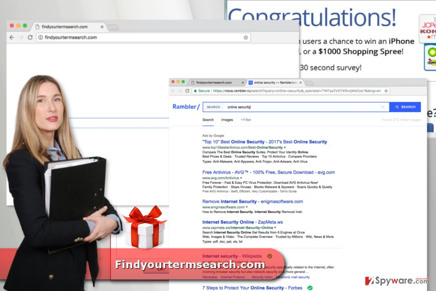 The picture of Findyourtermsearch.com virus