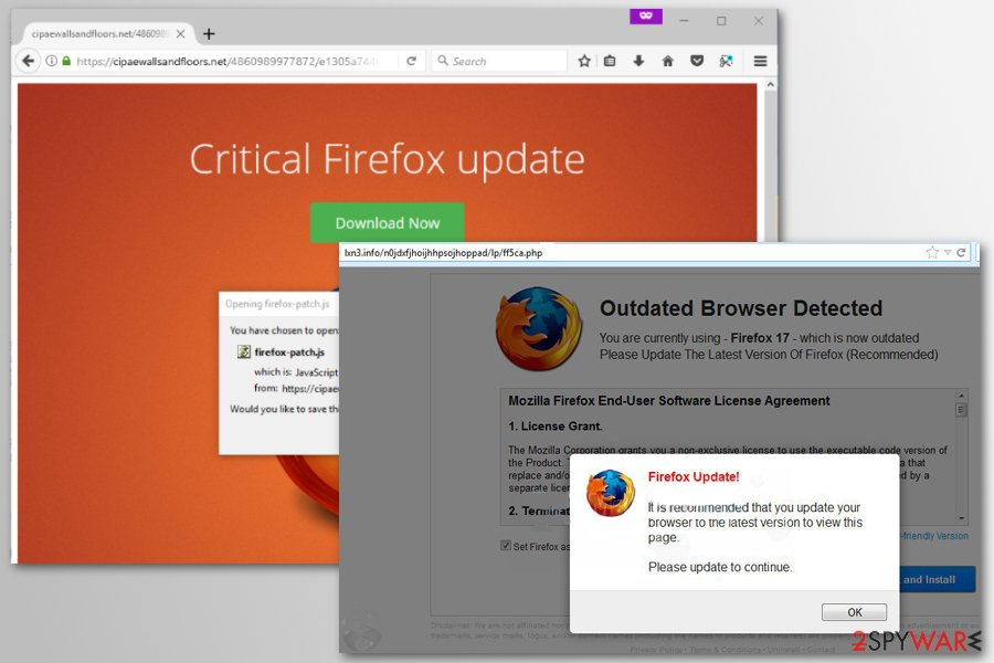 Firefox redirect virus examples