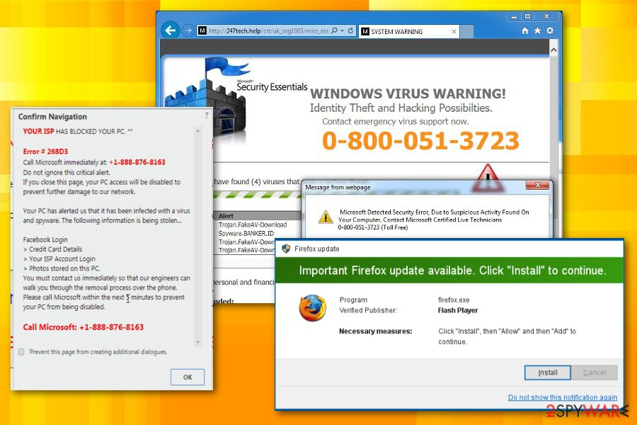 Firefox virus Technical support scams