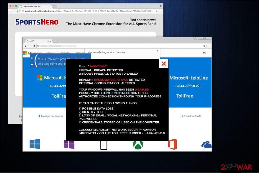 """Firewall Breach Detected"" virus"