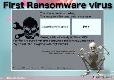 Image of the First ransomware virus