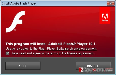 'Flash Player is needed' virus