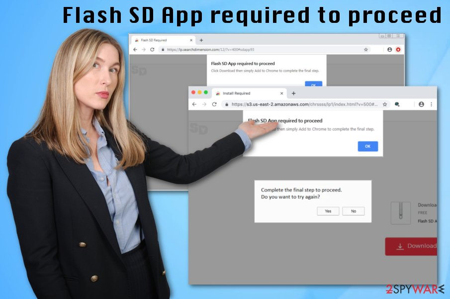 Flash SD App required to proceed
