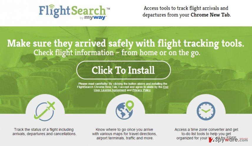 FlightSearch Toolbar virus
