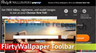 Image of FlirtyWallpaper Toolbar