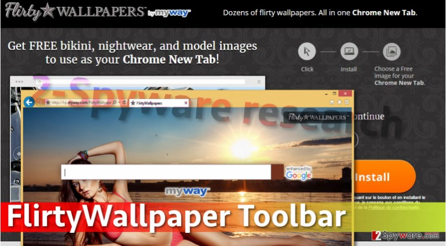 Image of FlirtyWallpaper Toolbar