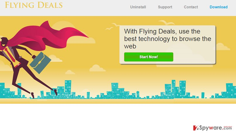 Flying Deals virus