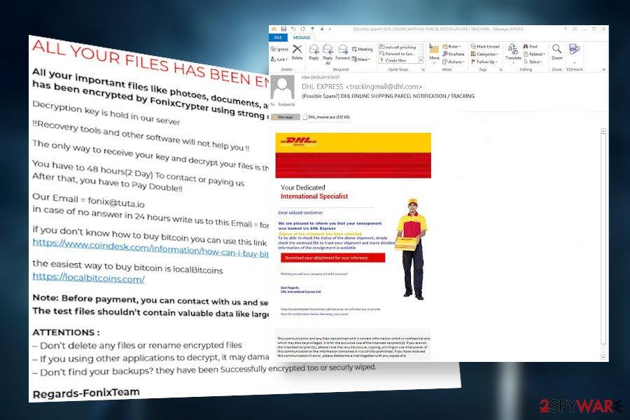 Fonix ransomware spam