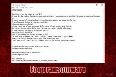Foop ransomware