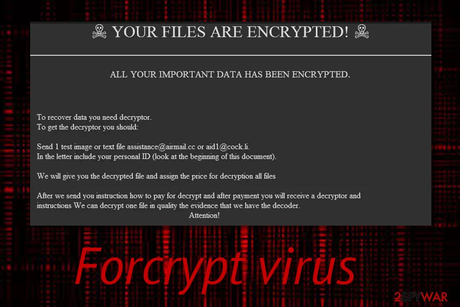 Forcrypt ransomware