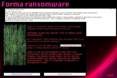 Forma ransomware virus