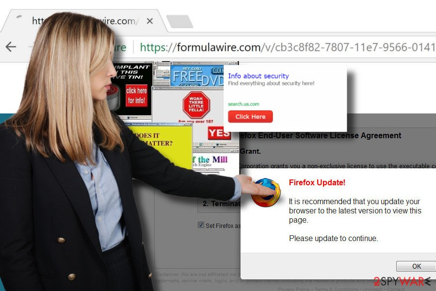 Illustrating the Formulawire.com adware