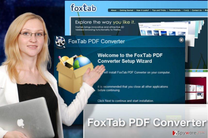 FoxTab PDF Converter illustration