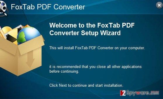 FoxTab Pdf Converter snapshot