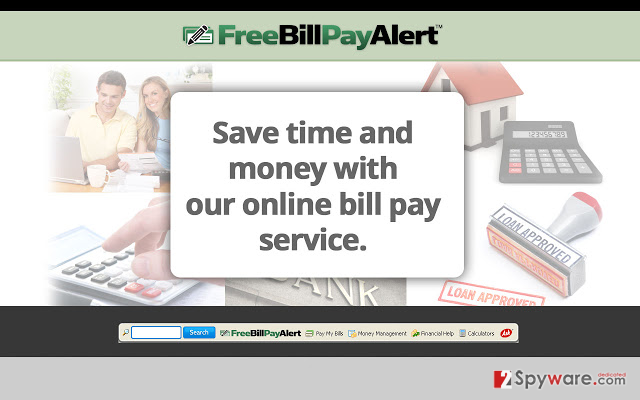 FreeBillPayAlert Toolbar snapshot