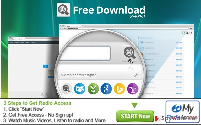 The screenshot of Free Download Seeker