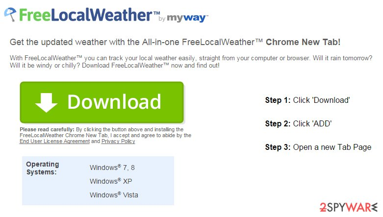 FreeLocalWeather Toolbar