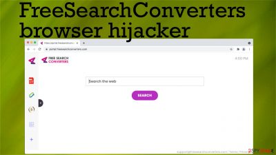FreeSearchConverters browser hijacker
