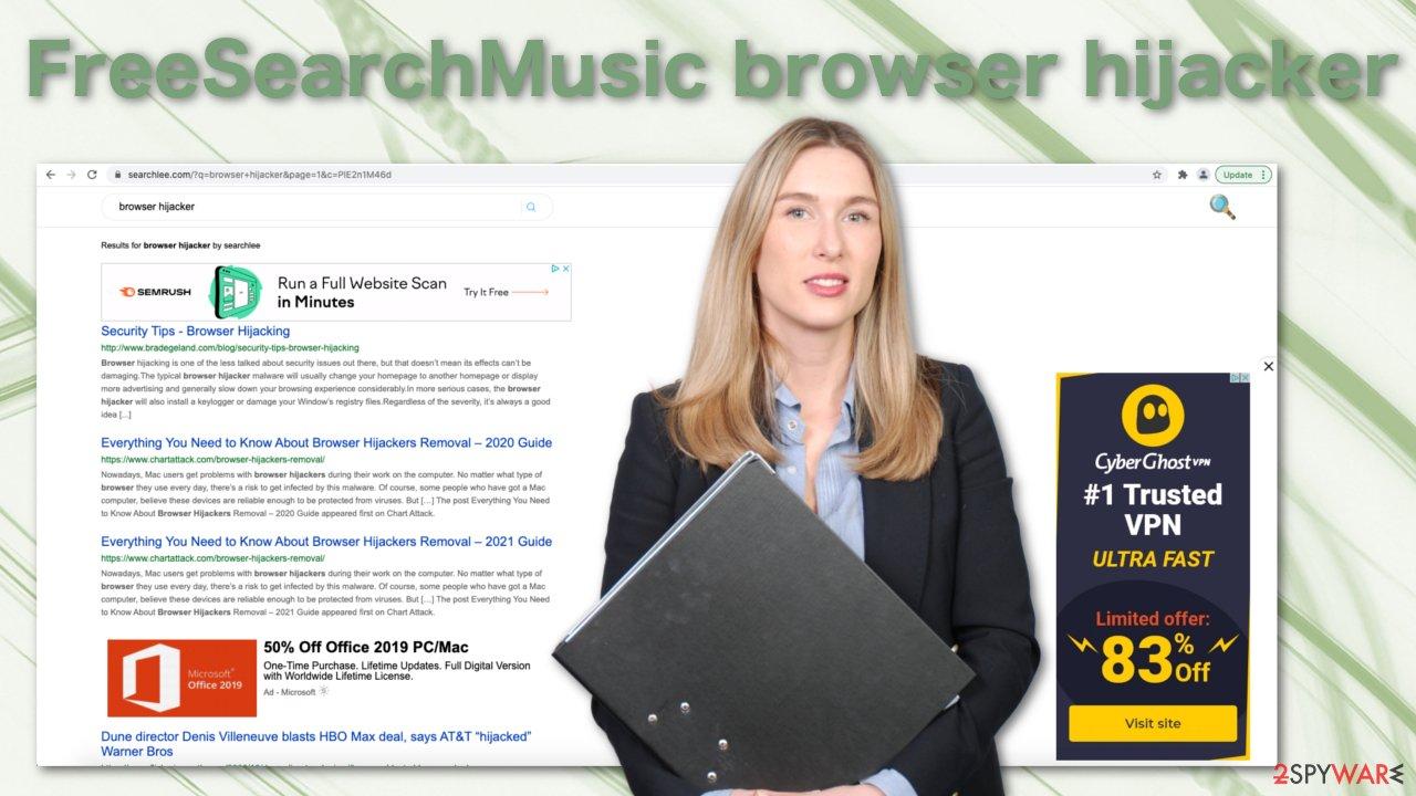 FreeSearchMusic browser hijacker