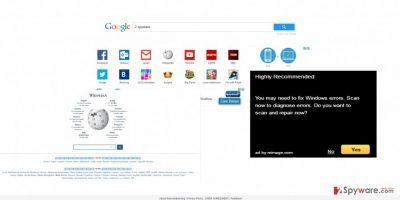 The image showing freewebtrending.com virus