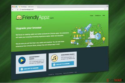 Friendlyappz.com virus illustration
