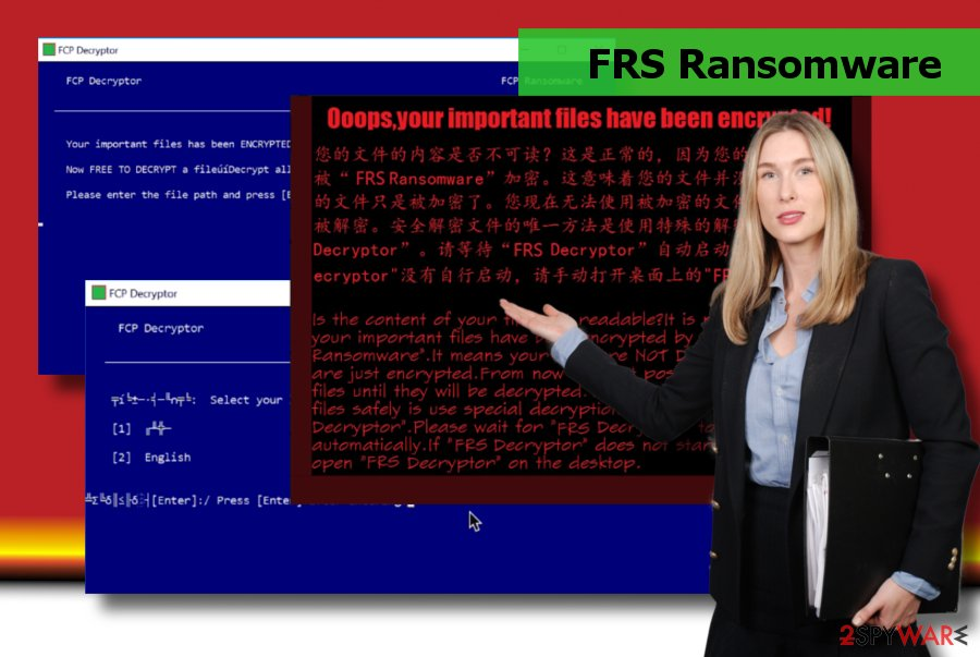 Showing FRS ransomware decryptor