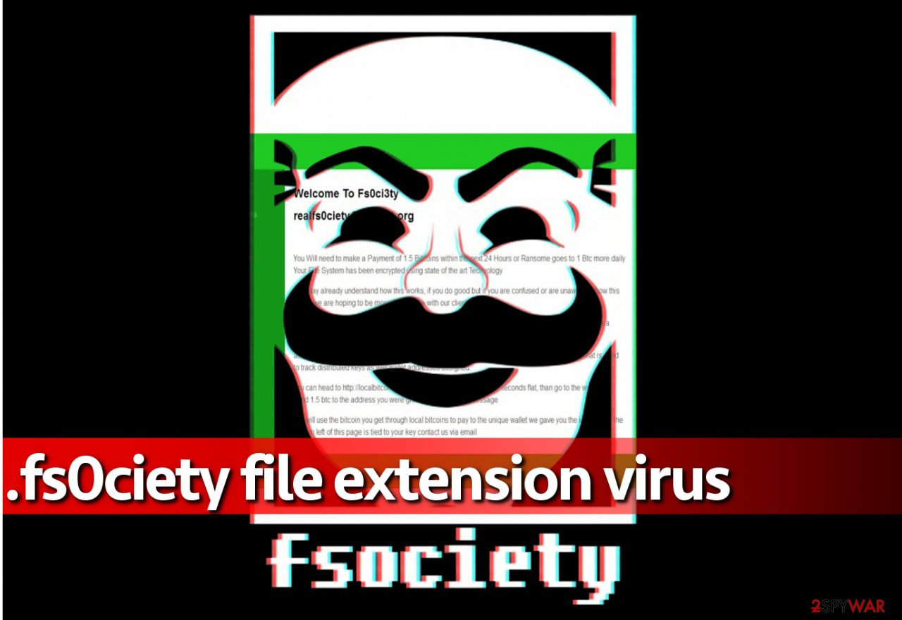 fs0ciety file extension virus is based on Mr.Robot series