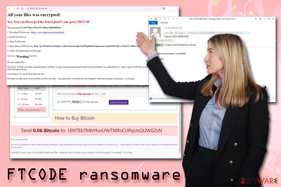 FTCODE ransomware virus