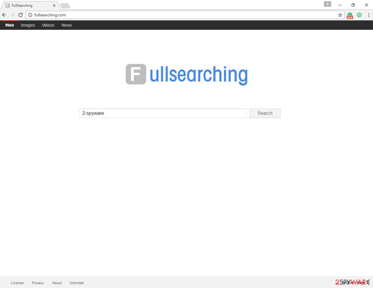 The picture of FullSearching.com virus