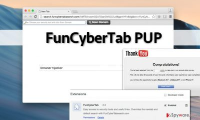 FunCyberTab hijacker integrates sponsored content, which can be dangerous