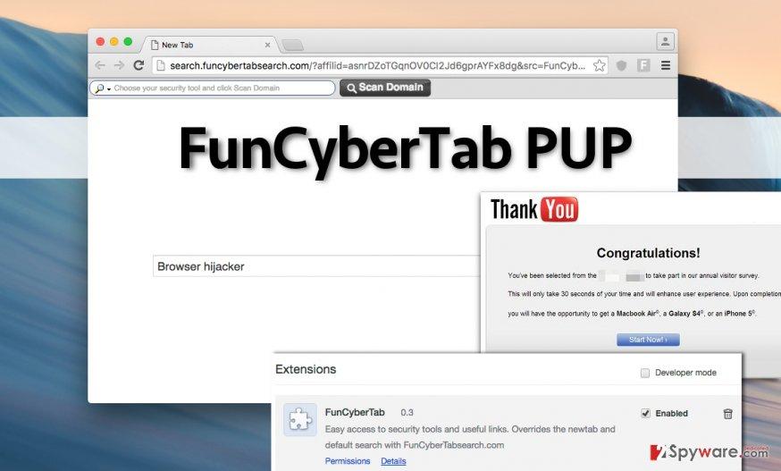 FunCyberTab hijack