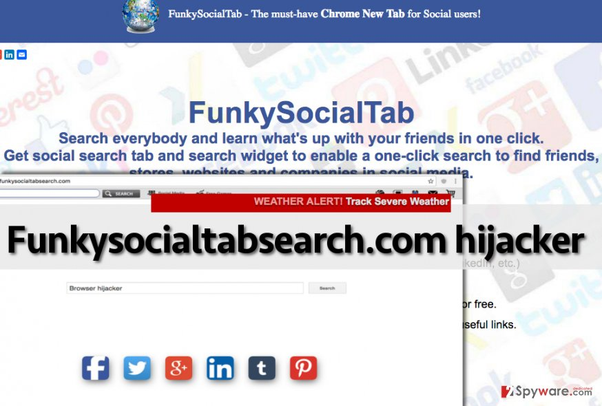 Funkysocialtabsearch.com hijack