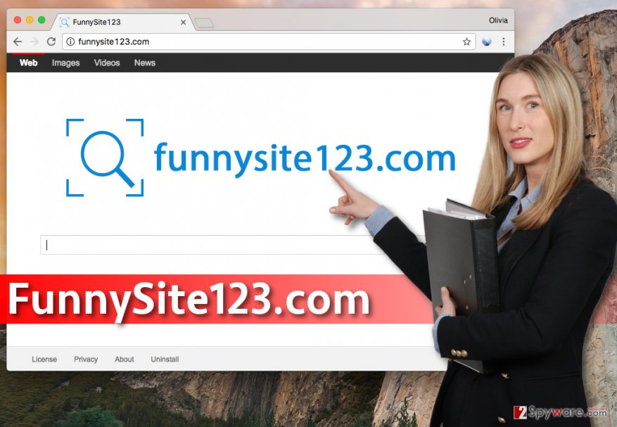 FunnySite123.com redirect virus
